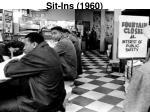 sit ins 1960