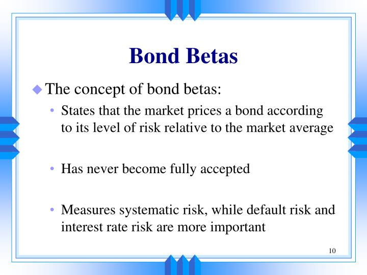 Bond Betas