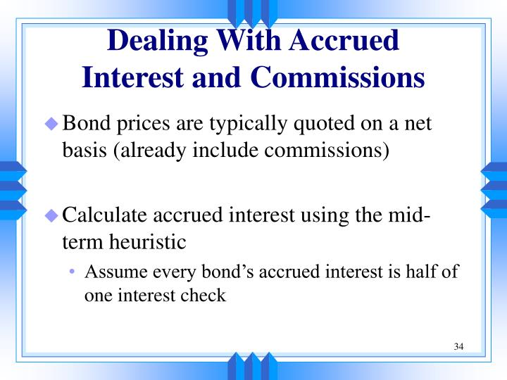Dealing With Accrued