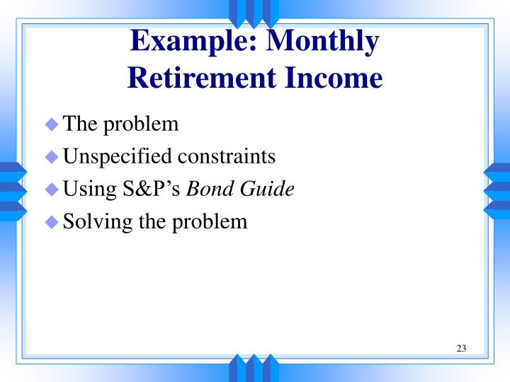 Example: Monthly
