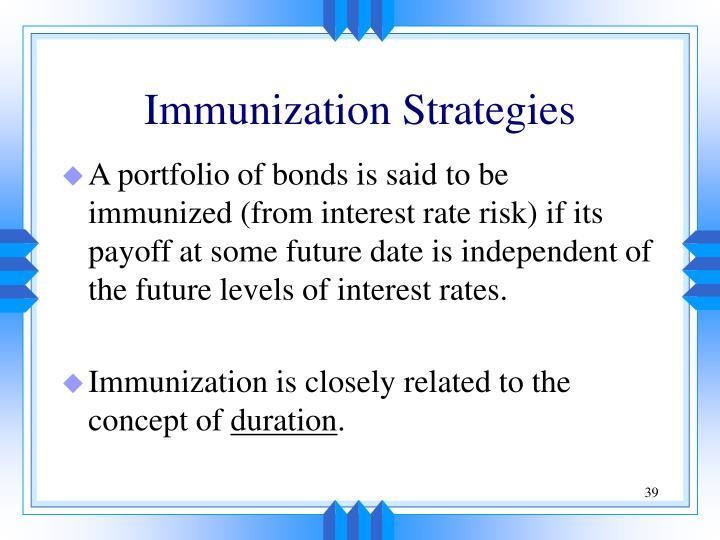 Immunization Strategies