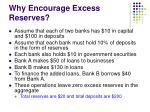 why encourage excess reserves