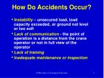 how do accidents occur