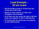 load example 30 ton crane