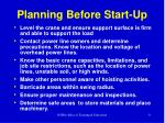 planning before start up