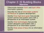 chapter 2 is building blocks objectives