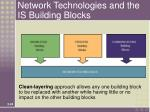 network technologies and the is building blocks