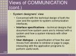 views of communication cont