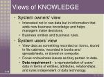 views of knowledge