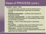 views of process cont