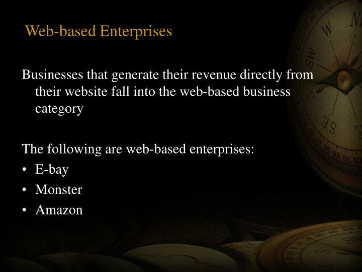 Web-based Enterprises