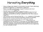 harvesting everything