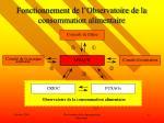 fonctionnement de l observatoire de la consommation alimentaire