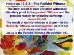 hebrews 12 2 3 the faithful witness