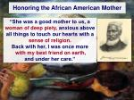 honoring the african american mother1