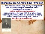 richard allen an artful soul physician1