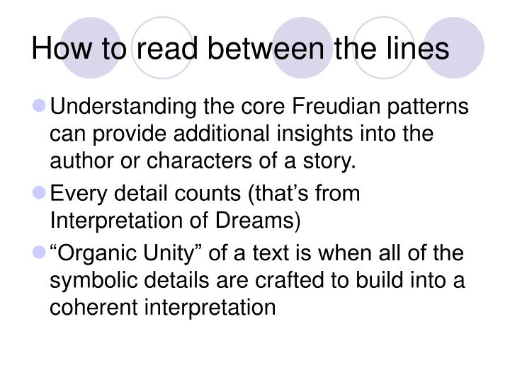 How to read between the lines