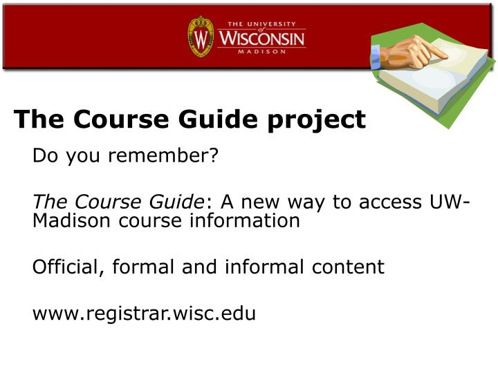 The Course Guide project