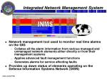 integrated network management system