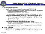 network configuration data sources