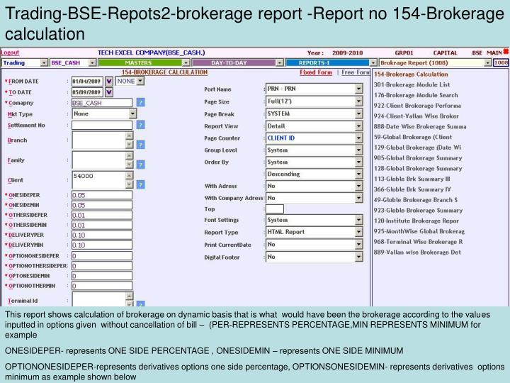 Trading-BSE-Repots2-brokerage report -Report no 154-Brokerage calculation