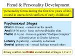 freud personality development