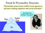 freud personality structure