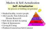 maslow self actualization