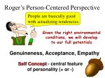 roger s person centered perspective