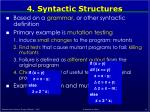 4 syntactic structures