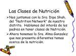 las clases de nutrici n