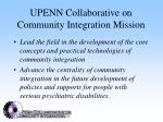 upenn collaborative on community integration mission