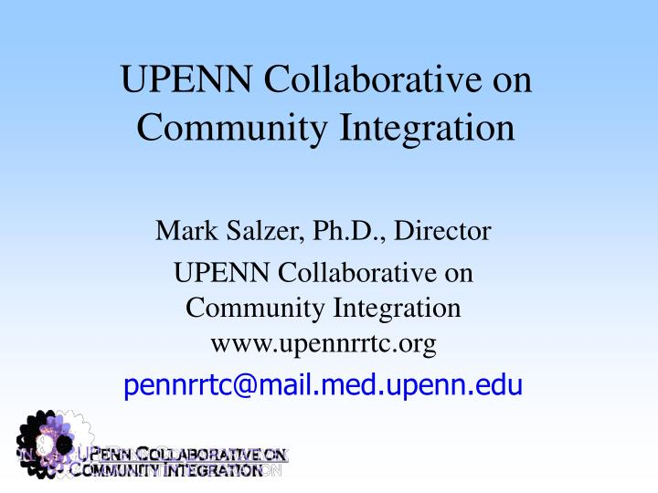 upenn collaborative on community integration n.