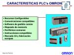caracteristicas plc s omron