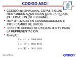 codigo ascii