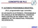 concepto de plc