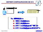 definir configuracion de e s1