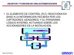 objetivo y funcion de una automatizacion1