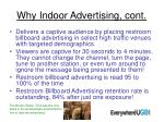 why indoor advertising cont