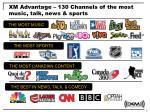 xm advantage 130 channels of the most music talk news sports