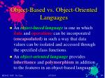 object based vs object oriented languages