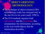 object oriented methodology