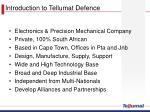 introduction to tellumat defence