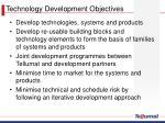 technology development objectives