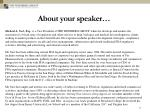 about your speaker