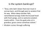is the system bankrupt