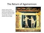 the return of agamemnon