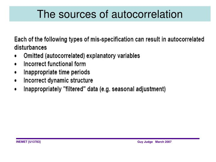 The sources of autocorrelation