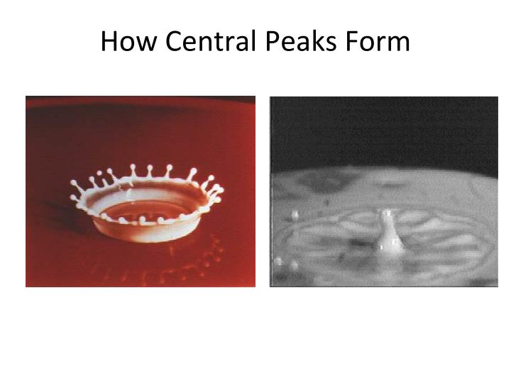 How Central Peaks Form