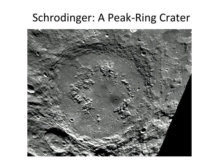Schrodinger: A Peak-Ring Crater
